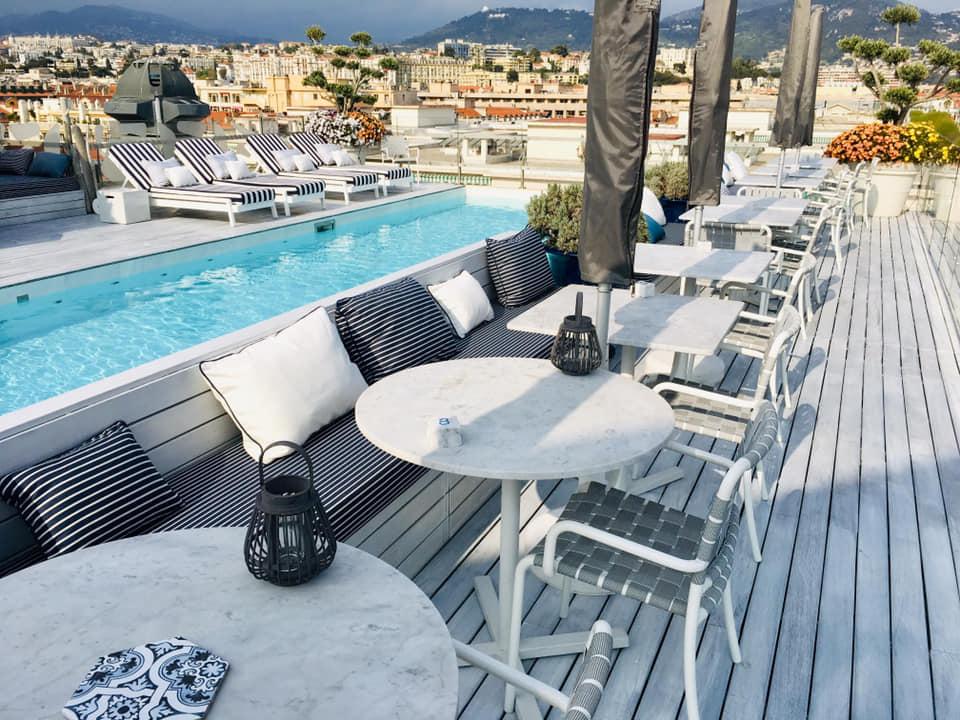 Le rooftop du Bclub Boscolo à Nice