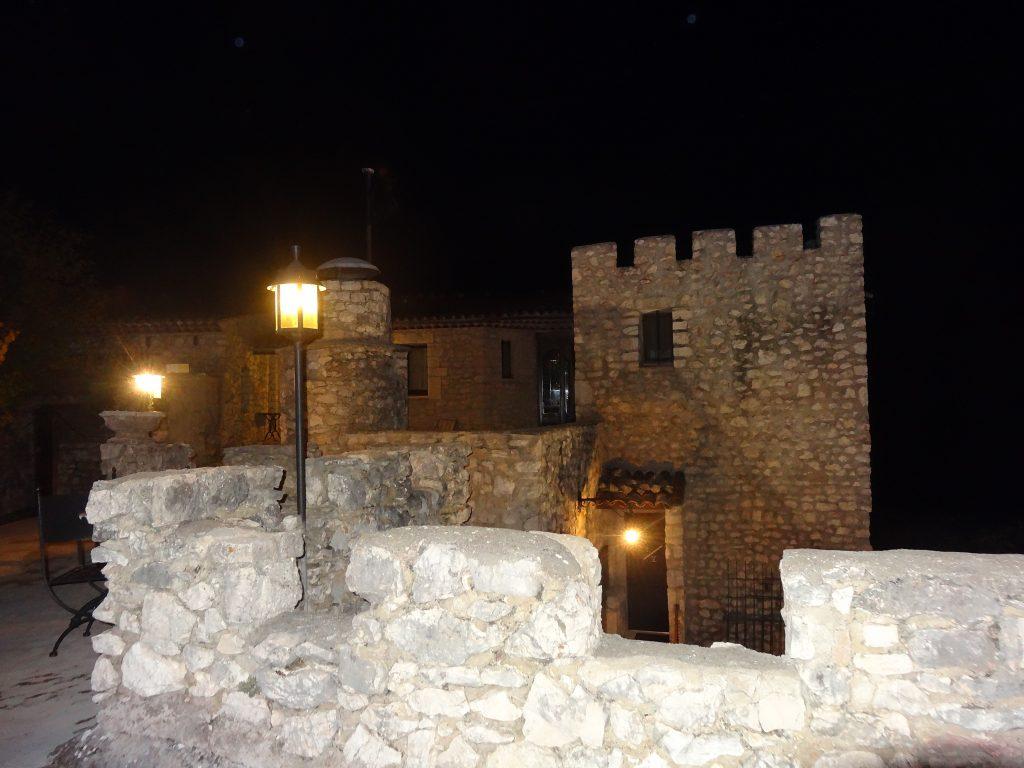 Le Château de Trigance à la nuit tombée