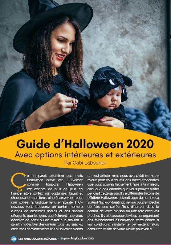 Guide d'Halloween à lire de toute urgence sur Enfantsd'azur.com