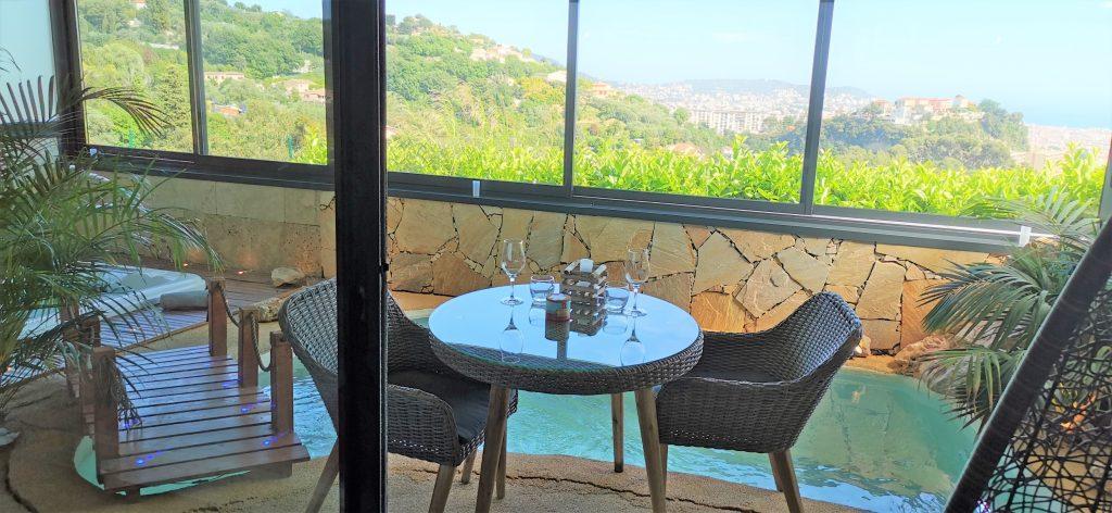 Superbe vue de la suite Bali à la Villa Sensorielle à Nice